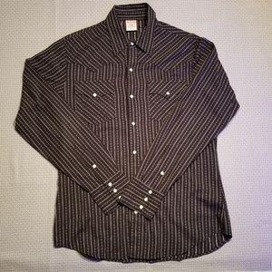 True Religion pearl snap western shirt mens XL